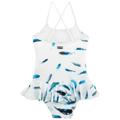 White Grilly Blue Breath Swimsuit