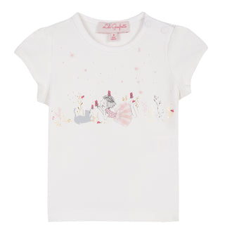 Glycine White Gingham Girl Tee