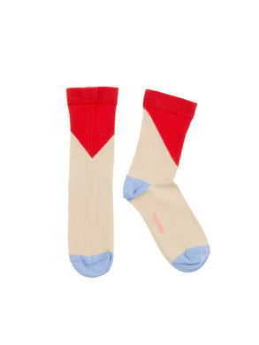Geometric Carmine Medium Socks