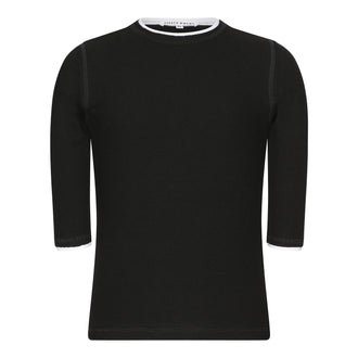 Black Ribbed Tee