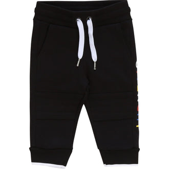 Black Multi Logo Sweatpants
