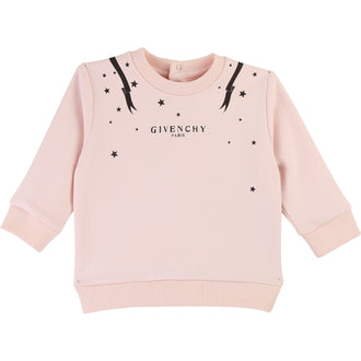 Pink Logo Sweatshirt With Stars