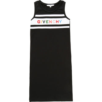 Black Multi Logo Maxi Dress