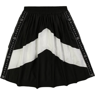 Black & White Logo Stripe Skirt