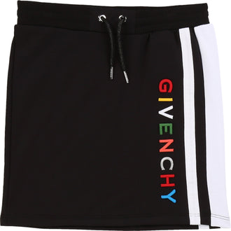 Black Multi Logo Skirt