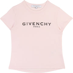 Pink Distressed Logo Tee