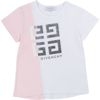 Pink & White Two Tone Tshirt With 4G Logo