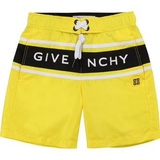 Yellow Logo Swim Trunks