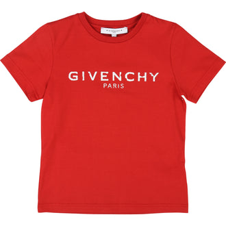 Red Distressed Logo Tee