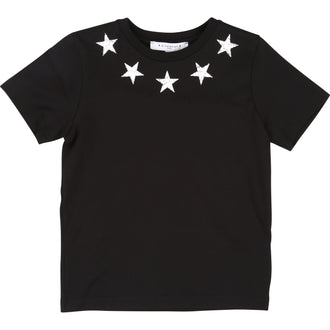 Black Stared Neckline Tee