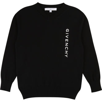 Black Knit Logo Sweater