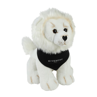 White Lion Toy With Logo Bandana