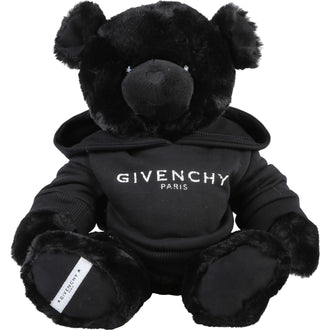 Black Bear With Logo Hoodie