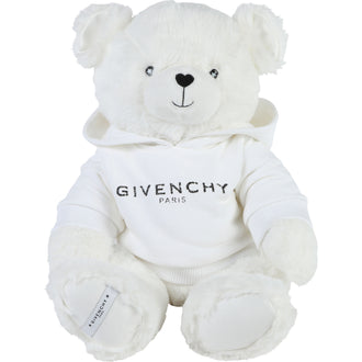 White Bear With Logo Hoodie