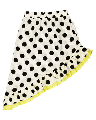 Halima Black & White Dot Skirt