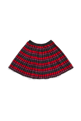 Idaline Cherry Flock Skirt