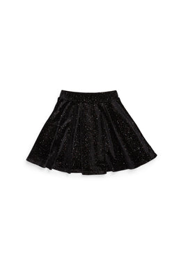 Iglesia Long Length Black Velvet Skirt