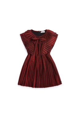 Igny Cherry Glitter Pleated Dress
