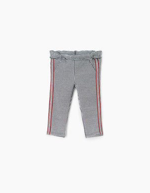 Houndstooth Print Pants