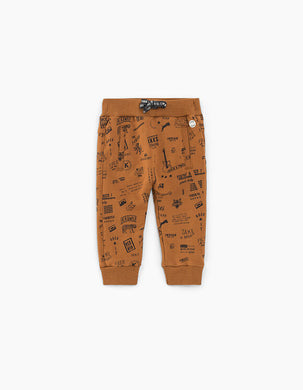 Cognac Printed Sweatpants