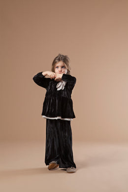 Nerea Black Crushed Velvet Top