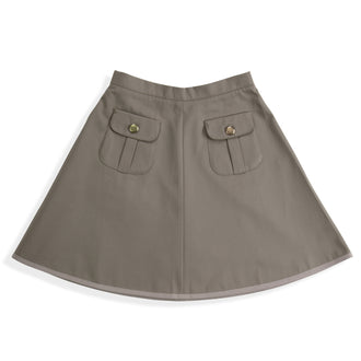 Almond Twill Pocket Skirt
