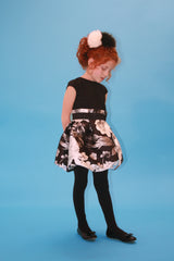 Black Flower Party Dress