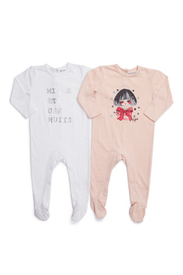 Inight Pink/White 2 Pack Footies