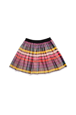 Iglesia Striped Tulle Skirt