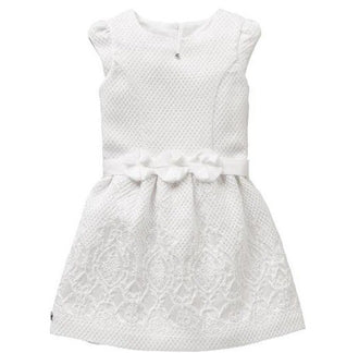 White Samson Jaquard Dress