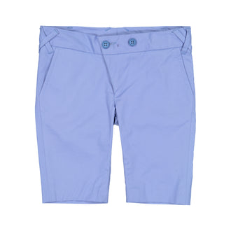 French Blue Cotton Bermudas