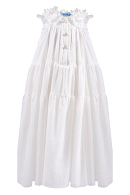 Cream Chiffon Maxi Dress
