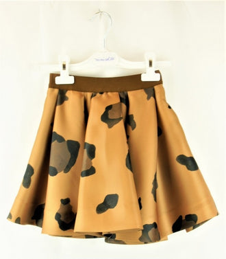 Tafetta Animal Print Skirt
