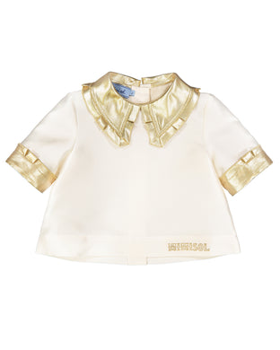 Ivory & Gold Tafetta Blouse
