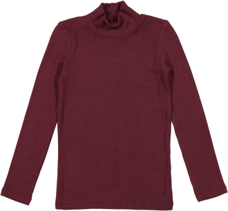 Maroon Ribbed Turtle Tee