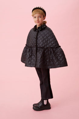 Black Quilted Cape