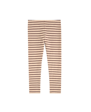 Nude/Plum Small Stripes Pants