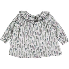 Big Feather Print Baby Shirt