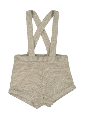 Oatmeal Knit Short Romper