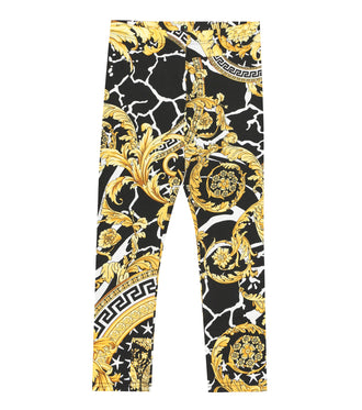 Black/Gold Baroque Print Legging