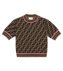 Brown Allover Logo Sweater