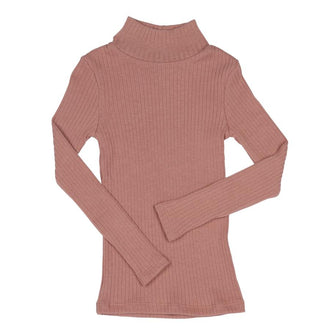Pink Wide Ribbed Turtleneck