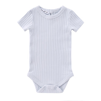 Light Blue Ribbed Onesie