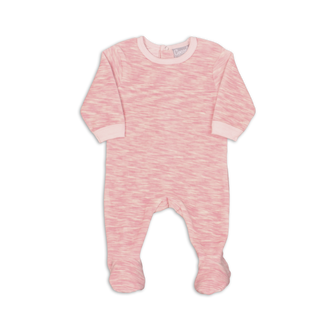 Pink Velour Space Dye Footie