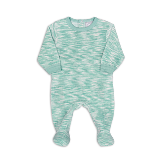 Blue Velour Space Dye Footie