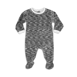Grey Velour Space Dye Footie