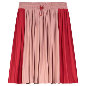 Red & Mauve Varsity Skirt