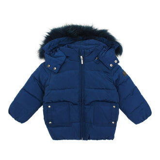 Steel Blue Jacket w Fur