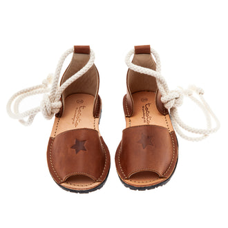 Brown Sandals With Ankle Cord