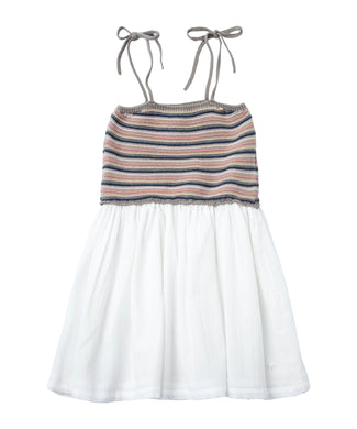 Striped Knit & White Sundress